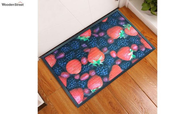 "Red 3D Printed Rubber Door Mat (23"" x 15"")-1"