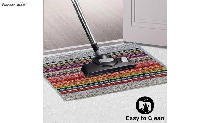 """White Nylon Printed Anti Skid Floor Mat (23"""" x 15"""")-3"""