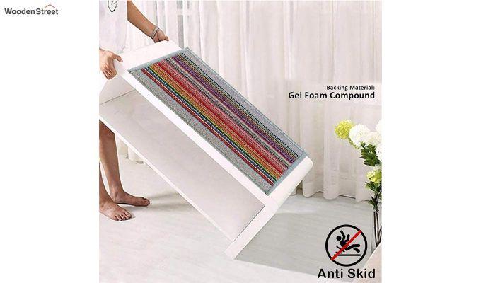 """White Nylon Printed Anti Skid Floor Mat (23"""" x 15"""")-6"""