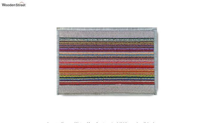 """White Nylon Printed Anti Skid Floor Mat (23"""" x 15"""")-7"""