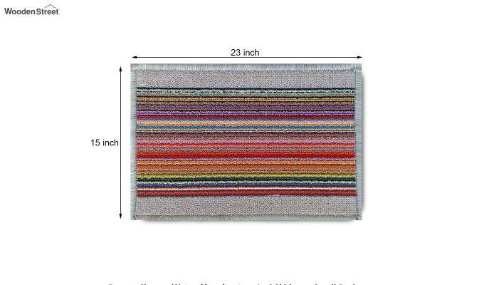 """White Nylon Printed Anti Skid Floor Mat (23"""" x 15"""")-8"""