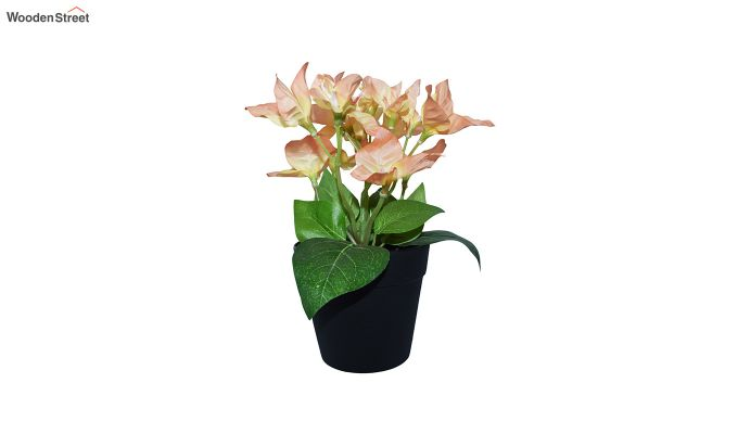 Artificial Peach Bougainvillea Flowers in Plastic Pot-1