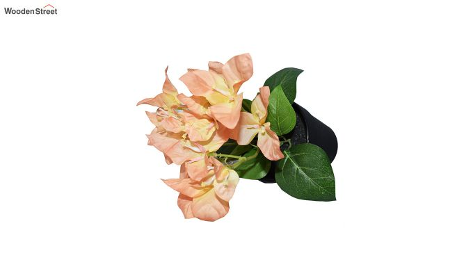 Artificial Peach Bougainvillea Flowers in Plastic Pot-3
