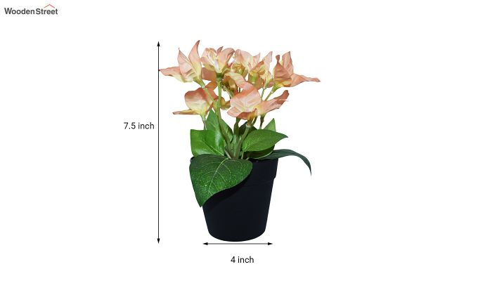 Artificial Peach Bougainvillea Flowers in Plastic Pot-4