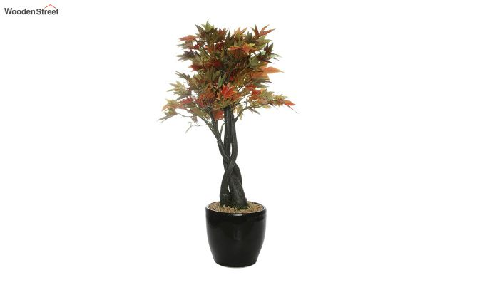 Multicolor Polyester Artificial Japanese Maple Plant with Pot-2