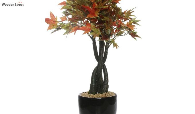 Multicolor Polyester Artificial Japanese Maple Plant with Pot-3