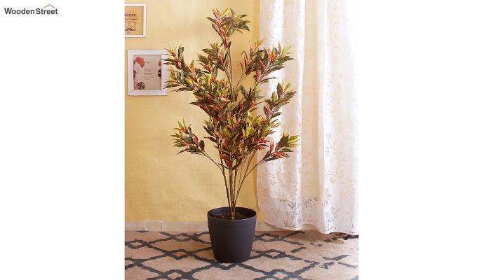 Multicolor Polyester Croton Artificial Plant-1