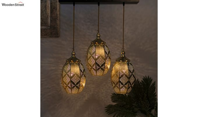 Oval Moroccan Hanging Pendant Light-1
