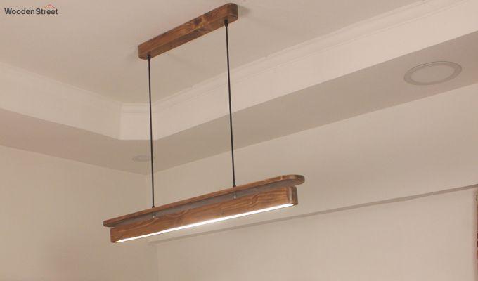 Art Deco Brown Wooden LED Hanging Lamp-1