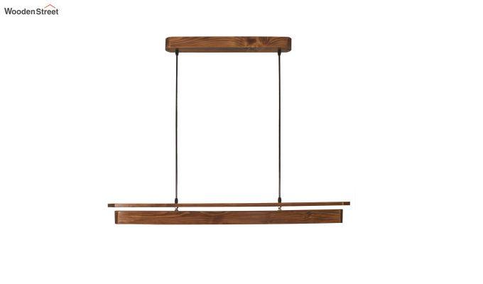 Art Deco Brown Wooden LED Hanging Lamp-5