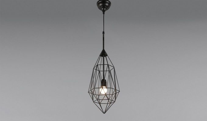 Black Birdcage Hanging Light by Grated Ginger-1