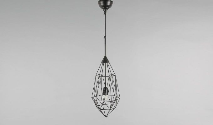 Black Birdcage Hanging Light by Grated Ginger-4