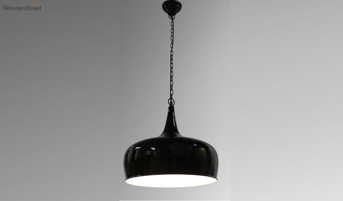 Black Goblet Hanging Light by Grated Ginger-1