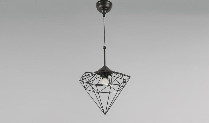 Black Jewel Hanging Light by Grated Ginger-2