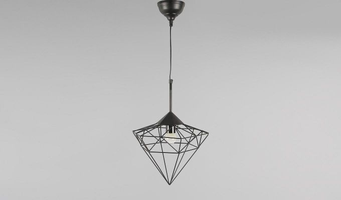 Black Jewel Hanging Light by Grated Ginger-3