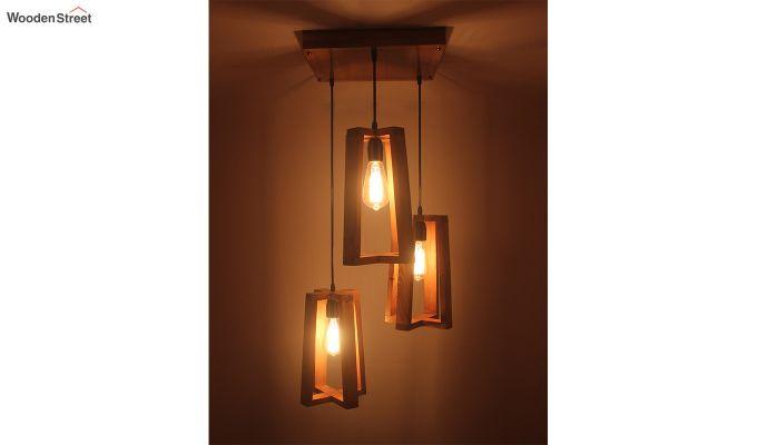 Blender Brown Cluster Hanging Lamp-2