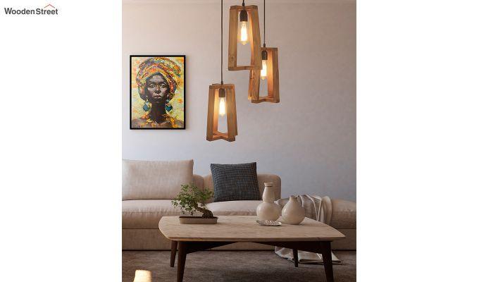 Blender Brown Cluster Hanging Lamp-1
