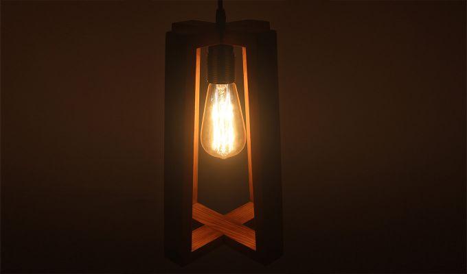 Blender Brown Wooden Hanging Lamp-1