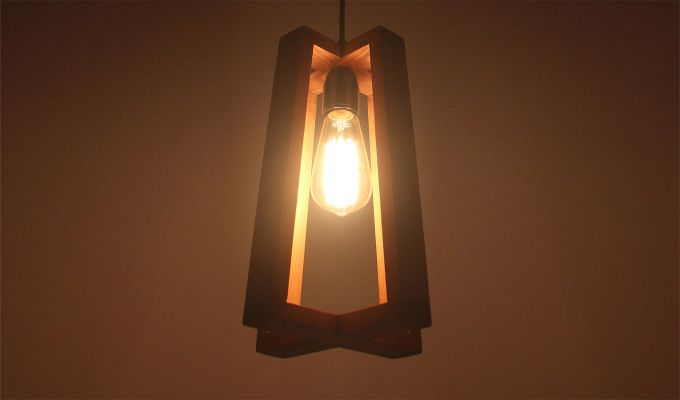 Blender Brown Wooden Hanging Lamp-2
