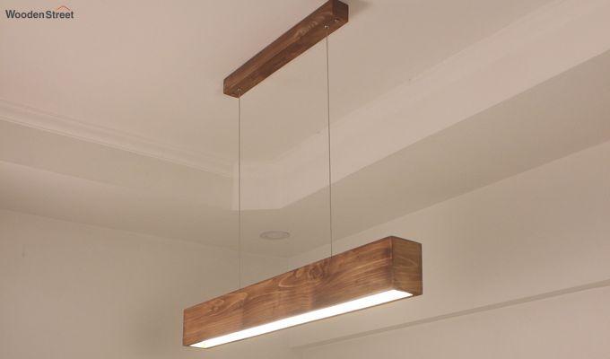 Clara Brown Wooden LED Hanging Lamp-1