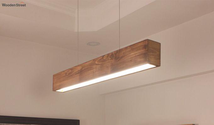 Clara Brown Wooden LED Hanging Lamp-2