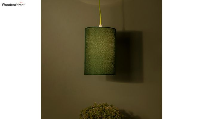Classic Cylinder Green Hanging Light-1
