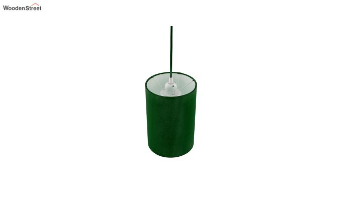 Classic Cylinder Green Hanging Light-4