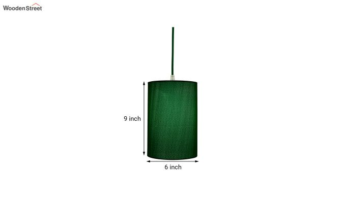 Classic Cylinder Green Hanging Light-5