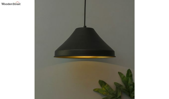 Classic Inverted Cone Black Hanging Light-1