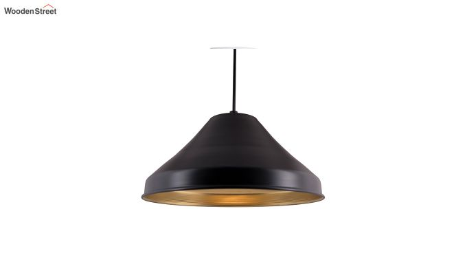 Classic Inverted Cone Black Hanging Light-2