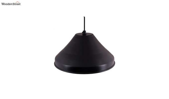 Classic Inverted Cone Black Hanging Light-4