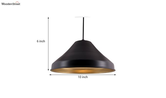 Classic Inverted Cone Black Hanging Light-5