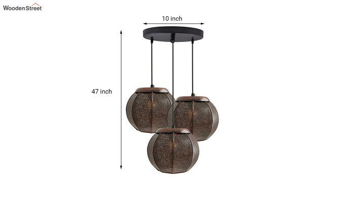 Classic Moroccan Copper Pendant Hanging Light-3