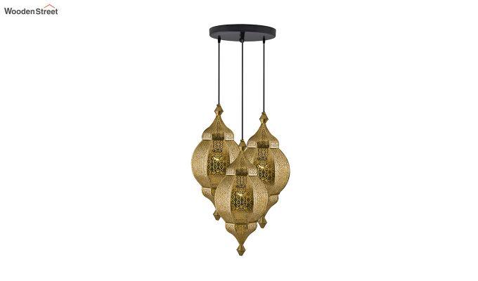 Classic Moroccan Nargis Gold Hanging Pendant Light-2