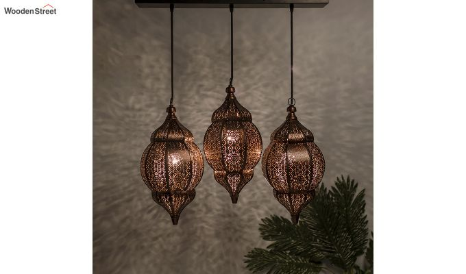Classic Moroccan Orb Copper Hanging Light-1