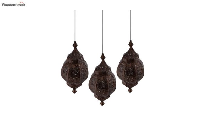 Classic Moroccan Orb Copper Hanging Light-2