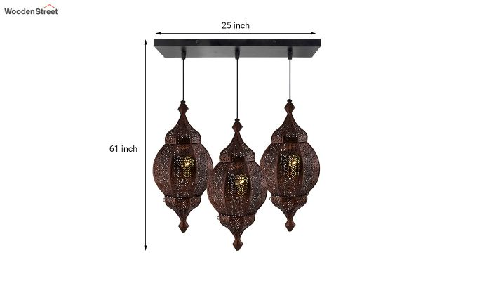 Classic Moroccan Orb Copper Hanging Light-3