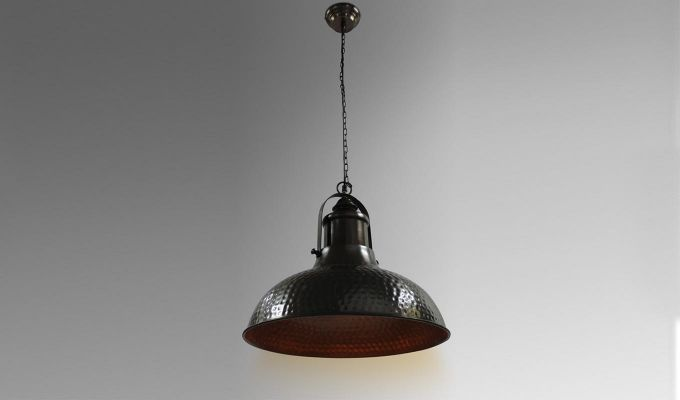 Copper Bell Hanging Light by Grated Ginger-1