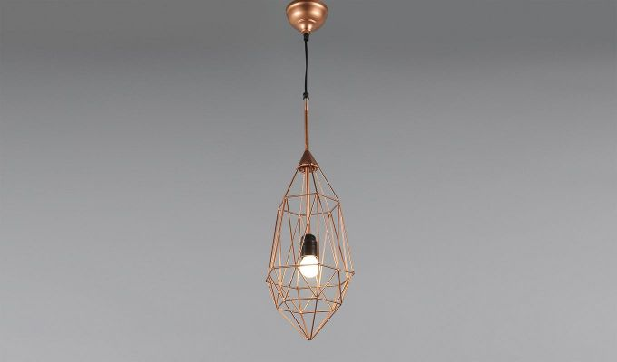 Copper Birdcage Hanging Light by Grated Ginger-2
