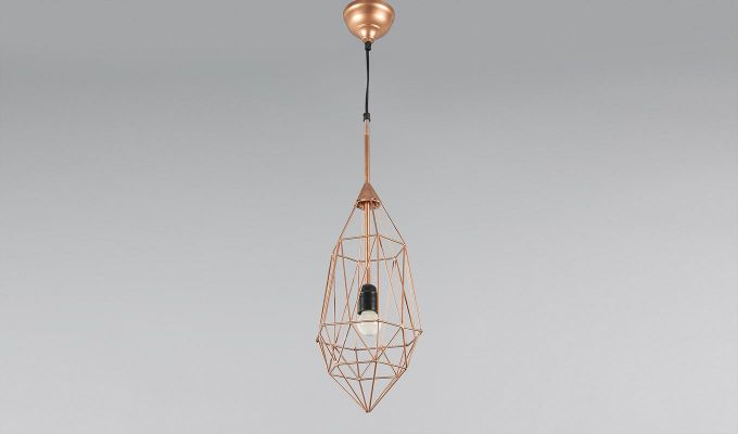 Copper Birdcage Hanging Light by Grated Ginger-3