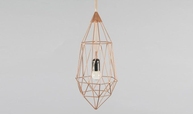 Copper Birdcage Hanging Light by Grated Ginger-4