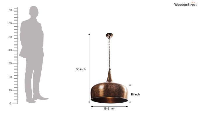 Copper Goblet Hanging Light by Grated Ginger-5