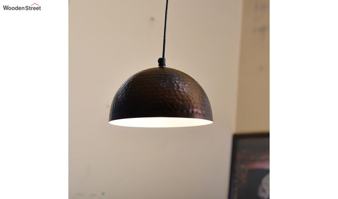 Copper Hammered 8-inch Hanging Light-1