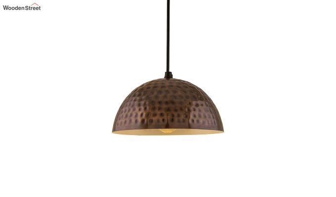 Copper Hammered 8-inch Hanging Light-2