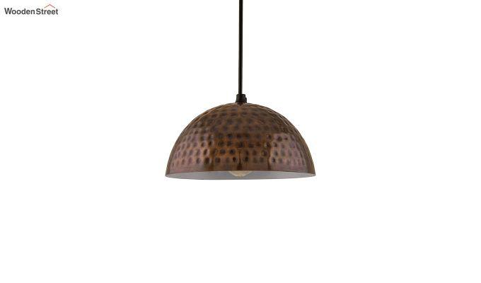 Copper Hammered 8-inch Hanging Light-3
