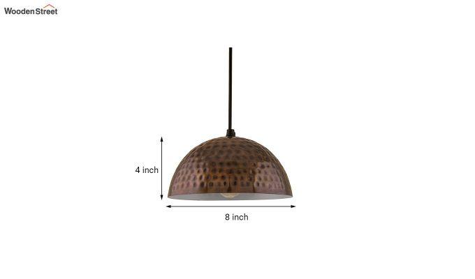 Copper Hammered 8-inch Hanging Light-5