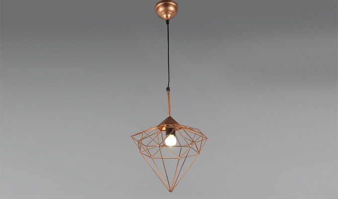 Copper Jewel Hanging Light by Grated Ginger-1