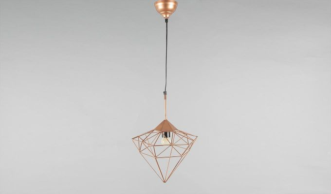 Copper Jewel Hanging Light by Grated Ginger-2