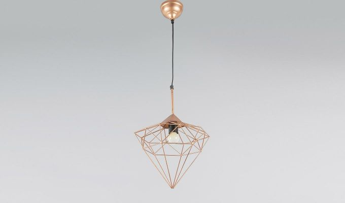 Copper Jewel Hanging Light by Grated Ginger-3