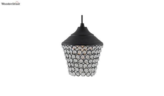 Crystal Matt Black Hanging Light-2